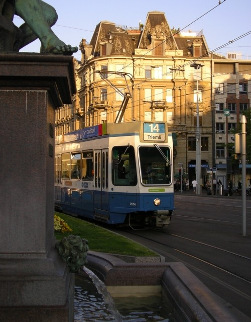 Tram at Zurich Hauptbahnhof