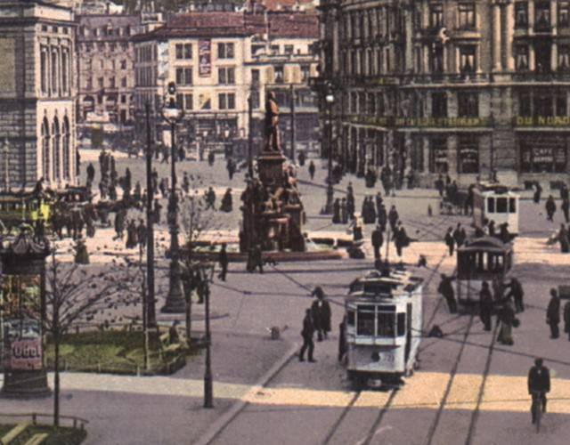 historic view of Bahnhofplatz